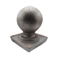 "Cast Iron Post Ball, Fits Over 4"" Square."