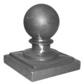 "Cast Iron Post Ball. Fits 6"" Square."