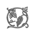 "Cast Iron Vineyard Medallion,Double Faced 8"" H"