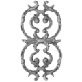 "Cast Iron Picket, Pontalba. 8-1/8""W, 15-3/8"" H"
