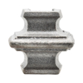 "Cast Iron Half Knuckle Overlays 1/2"" Square"