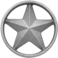 "Cast Iron Star w/Ring, DoubleFaced. 3-3/8"" Diameter"