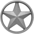 "Cast Iron Star w/Ring, DoubleFaced. 3-7/8"" Diameter"