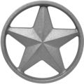"Cast Iron Star w/Ring, SingleFaced. 4-3/8"" Diameter"