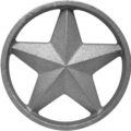 "Cast Iron Star w/Ring, DoubleFaced. 4-7/8"" Diameter"