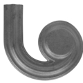 "Ductile Iron Right Hand Latrel 1-5/8""W"