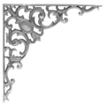 "Cast Iron Corner Bracket Pontalba 16-1/4""W"