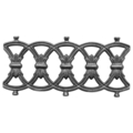 "Cast Iron Frieze, Greco-Romanesque. 13-3/4"" W"