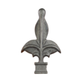 "Cast Iron Spear Fleur-de-lis Fits 3/4""Square"