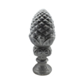 "Cast Iron Pineapple 2-1/2"" Solid Round Base"