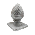 "Cast Iron Pineapple Top, 4"" Square Base"
