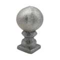 "Cast Iron Spear, Round Ball, 1""Square Solid Base"