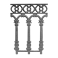 "Cast Iron Railing Panel, European. 13-1/8""W"