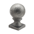 "CastIron Post Ball, 1-1/4"" Square Solid Base"