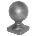 "Cast Iron Spear, Round Post Ball, 1-3/4"" Square Base"