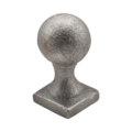 "Cast Iron Spear, Round Ball, 1-1/2"" Square Solid"