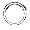 "Cast Iron Beveled Ring.  3-15/16"" Diameter."