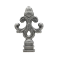 "Cast Iron Finial ""Acorn"" Fits 1/2"" Square."