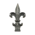 "Cast Iron Spear Fleur De Lis Fits 1/2"" Square"