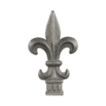"Cast Iron Spear Fleur De Lis Fits 5/8"" Square"