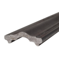 "Molded Steel Cover Rail, 1 3/4"" W, 19 Ft"