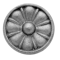 "Cast Iron Rosette, Double Faced.  2-1/2"" Diameter."