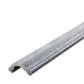 "Steel Cover Rail 2-1/4"" Wide 8 Ft. Long"