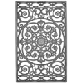 "Cast Iron Panel, Morning Glory. 17-3/4""W, 28-1/4""H"
