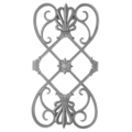 "Cast Iron Panel, Greco-Anthemion. 14""W, 26-1/4"" H"