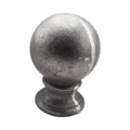 "Cast Iron Post Ball 2-1/8"" Round Solid Base"