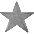 "Cast Iron Star. 5"" Diameter"