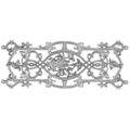 "Aluminum Railing Floral DesignW/Out Tabs22""H"