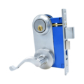 Mortise Lockset, Lever, DC, LH, Satin