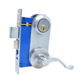 Mortise Lockset, Lever, DC, RH, Satin