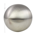 "Stainless Steel Hollow Ball 2"" Diameter."