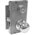 Mortise Lockset, Knob, Double Cylinder, RH, Bright Brass