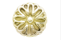 "Brass Rosette, 1/4""Threaded Hole, 1-1/2""D"