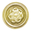 "Brass Rosette. Threaded Hole 1/4"", 1-1/2"""