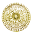 "Brass Rosette. 1/4"" Threaded, 3-9/16"" Diameter"