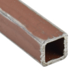 "Sq Tube 1/2"" x 16 gauge x 24 ft RED Primered"