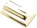 "Brass Handrail Terminal End.  1-15/16"" Wide, 3-1/2"" Length."