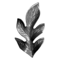"Stamped Steel Oak Leaf. 2-1/2""H"