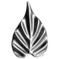 "Stamped Steel Maple Leaf. 2-5/8"" H"