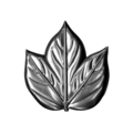 "Stamped Steel Maple Leaf. 3-1/2"" H"
