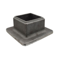 "Malleable Iron Tube Socket. 4-1/8"" Base, Fits 2"" Square."