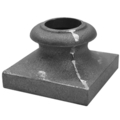 "Cast Iron Base. Fits Over 1""  Round"