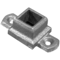 "Ductile Flanged Shoe w.Ears.Fits 1/2"" Square."