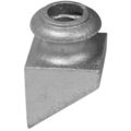 "Cast Iron Pitched Shoe. Fits 9/16"" Round"
