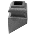 "Cast Iron Pitched Shoe. Fits 1/2"" Square"