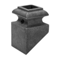 "Ductile Iron Pitched Base w/Set Screw, Fits 5/8"" Sq"